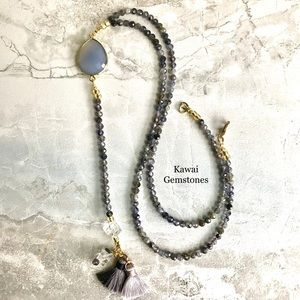 ✨REDUCED✨Iolite & Chalcedony✨Handmade✨
